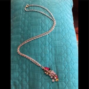 Jewelry - SILVER CHAIN WITH PINK AND BLACK ACCENTS!